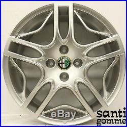 4 Jantes en Alliage Alfa Romeo Mito 16 Original Nouveaux Chrome 50903234