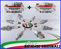 8 Bougies Original Alfa Romeo 147- 156 Moteur Twin Spark 4 Pmr7a + 4 Bkr6ekpa