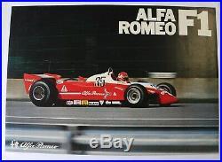 AFFICHE ORIGINALE ALFA ROMEO F1 BRUNO GIACOMELLI 1980-81 P. Depailler FORMULA 1