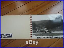 Album 6 PHOTOS Presse Originale 1966 ALFA ROMEO GIULIA GT SPRINT Rallye Touquet