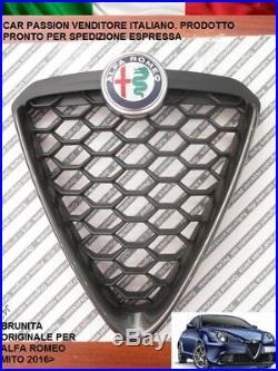 Bouclier Grille avant Alfa Romeo Mito 2016 Panneau Bruni Noir Original