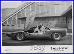 FOTO PHOTO Originale Presse 1968 ALFA ROMEO BERTONE CARABO NO Brochure Prospekt