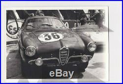 FOTO PHOTO Presse Originale 1958 ALFA ROMEO GIULIETTA SV ZAGATO 24H LE MANS