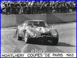 FOTO PHOTO Presse Originale 1965 ALFA ROMEO GIULIA SZ Coupe Paris Brochure