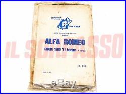 Garnitures Série Set Moteur Alfa Romeo 1600 Giulia Ti Original