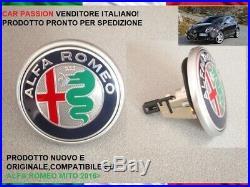 Logo Armoirie Alfa Romeo Mito 2016 Coffre Arrière Original avec Bouton Orrnement