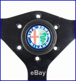 ORIGINAL MOMO Cavallino 350mm cuir DIRECTION ROUE ALFA ROMEO, spider etc 7B