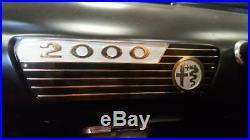 ORIGINAL car radio ornament delete plate Euro specs Alfa 2000 Touring