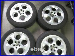 Original Alfa Romeo 156 Lot Jantes en Alliage 6,5J X 16 X H2 60669917+ Pneu