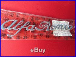 Original Alfa Romeo Spider Fastback Inscription Alfa Romeo 105936133601 Neuf