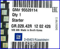 Original GM / Opel 95520114 Démarreur Astra Corsa Insigne Zafira 1.6i 1.8i