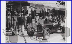 PHOTO FOTO Originale Presse 1935 GP ITALY Scuderia FERRARI ALFA ROMEO P2 NUVOLAR