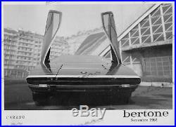 PHOTO FOTO Originale Presse 1968 ALFA ROMEO BERTONE CARABO NO Brochure Prospekt