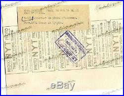 PHOTO FOTO Presse Originale 1934 ALFA ROMEO P3 A. Varzi GP Italie Brochure