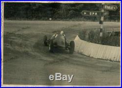 PHOTO FOTO presse Originale 1937 GP SPA Belgium ALFA ROMEO FERRARI No Brochure