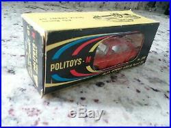 Politoys M Alfa Romeo Giulia N0. 500 Sprint Gt, Rouge, Original Box, Ob, Neuf