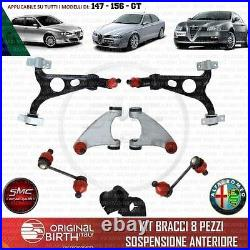 Set Bras Suspension Avant Alfa Romeo 147 156 Gt Original BIRTH 8 Pièces