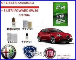 Set Entretien 4 Filtres Original+Huile Selenia Alfa Romeo Giulia 2.2 Diesel