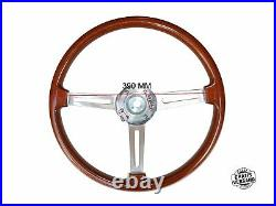 Type Ellébore Volant Alfa Romeo 105/115 SPIDER Gt Volant en Bois 390MM + Hub