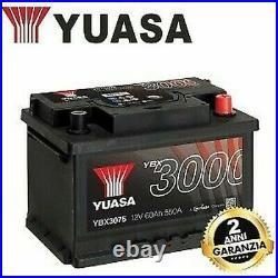 YBX3075 Batterie Original YUASA Type Basse 12V 60 Ah 550 243X175X175